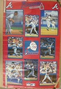 RARE ATLANTA BRAVES MURPHY MCGRIFF STARS 1988 VINTAGE ORIG MLB STARLINE POSTER