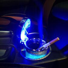 LED Ashtray Smoke Ash Cylinder Car Styling Storage Cup Cigar Ash Tray Portable