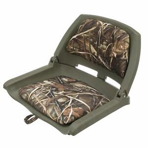 Attwood 98391GNMX Padded Boat Seat, Camouflage, Molded Plastic Frame, 20 Inch...