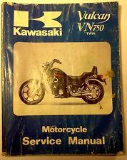 Kawasaki Vulcan VN750 Twin Motorcycle Service Manual - 1992 - NICE!