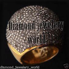 Cut Diamond Silver Cocktail Ring Jewelry Artdeco Estate 6.38ct Genuine Pave Rose