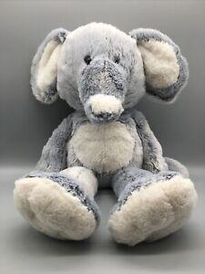 "HTF Fiesta Toys Fuzzy Folk Bean Bag Paws Bluish Elephant 16"" My Plush Pet Pillow"