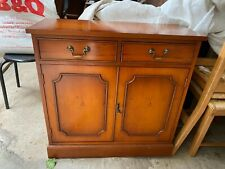 Vintage Antique Style Small Solid Natural Wooden Sideboard Cupboard Drawers
