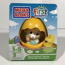 Mega Bloks First Builders Block Buddies Spring Buildable Yellow Egg Bunny 81246