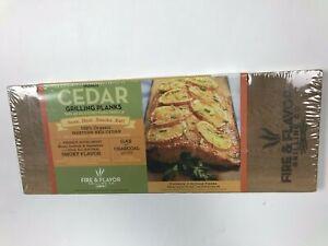 Fire & Flavor Grilling Reusable Cedar 2 Grilling Planks
