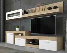 Parete attrezzata Lublino bianco e rovere mobile TV soggiorno sala da pranzo