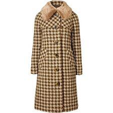 ORLA KIELY Houndstootth Wool Lowrie Coat Olive Uk 8 | Jacket Bag Dress Shirt