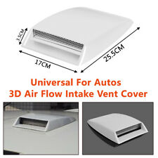 Car SUV Air Flow Intake Vent Front Grille Decorative Cover 3D White Hood Sticker