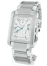 MINT Cartier Tank Francaise Chronoreflex quartz chronograph 2303 Watch