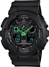 Casio G Shock GA100C-1A3 Mens Green Analog & Digital with Black Resin Band Watch