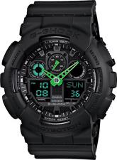 Casio G Shock GA100C-1A3 Mens Green Analog & Digital with Black Resin Band Watch