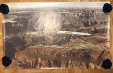VINTAGE SWISSAIR DC-10-70 ADVERTISING FLIGHTS 1970's TRAVEL BIG POSTER AIRLINES