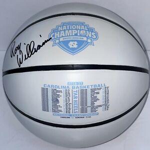 Roy Williams Signed Autographed 2017 Champs Logo Basketball North Carolina JSA