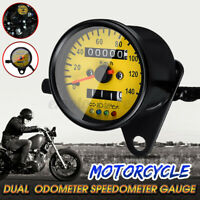 Universal Motorrad Doppelt Kilometerzähler Tachometer KMH LED   ! (
