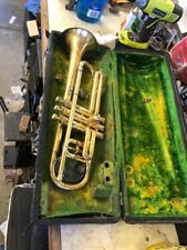 Vintage 1929 Conn Gold Plated New Wonder Cornet Trumpet restore Lady Face Bell
