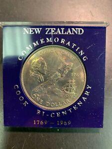 Original 1969 New Zealand James Cook Bi-Centenary Commemorative Dollar
