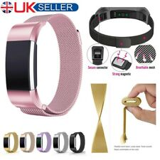 For Fitbit Charge 2 Replacement Milanese Bands Strap Stainless Steel Magnetic UK