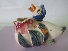 Vintage Duck pottery planter - Japan