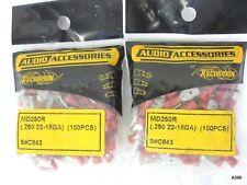 Audio Accessories Xscorpion Md250R (.250 22-18Ga) 200pc Red