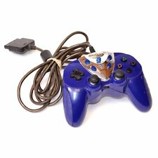 Intec Blue Wired Controller Gamepad for Sony Playstation 2 PS2
