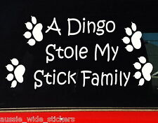 DINGO MY FAMILY Aussie BNS Camping Fishing 4x4 ute Stickers 200mm