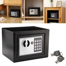 MONEY CASH OFFICE HOME SAFETY CASE ELECTRONIC PASSWORD SECURITY SAFE BOX 2 KEYS