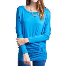 Fashion Women's Loose Long Sleeve Batwing Dolman Tunic Blouse Top T-Shirt Plus