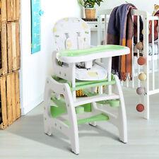 Homcom Kinderhochstuhl Kombihochstuhl 3 In 1 Baby Hochstuhl mit Schaukel grün