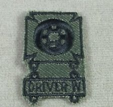"US Army Subdued Cloth Qualification Badge "" Driver W "" Patch"