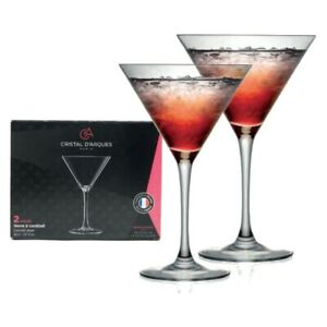 Cristal D'Arques Martini Cocktail Glasses - Set of 2 - Party Drinks Champagne