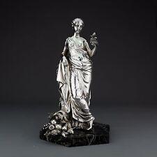 Rare Antique Solid Sterling Silver Statue, John Samuel Hunt, London 1855