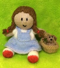 KNITTING PATTERN- Dorothy and Toto inspired Orange cover /15cms Wizard of Oz toy