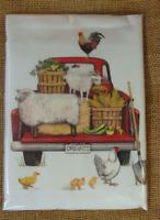 Mary Lake Thompson Flour Sack Towel Red Truck Vegetable Baskets Watermelon Dog