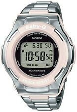 Casio Baby-g Reloj BGD-1300D-4JF Mujer Plata Banda Cara Redonda Digital Rosa