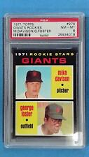 1971 Topps GEORGE FOSTER MIKE DAVIDSON #276 PSA 8 NM-MT SF Giants ~SC03-019
