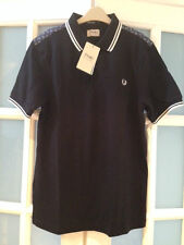 BNWT FRED PERRY DRAKES BLACK POLO TOP SIZE M