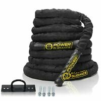 "POWER GUIDANCE Battle Rope, 1.5"" Width Poly Dacron 30/40/50ft Length Exercise"