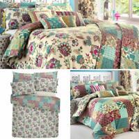 Teal Duvet Covers Floral Patchwork Marinelli Reversible Quilt Cover Bedding Sets