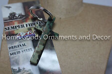 Stahl Cross Semper Fidelis Fi Key Chain/Ring Us Marines Pendant New Camo Usa