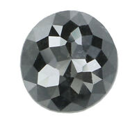 Natural Loose Diamond Black Grey Color Round I2 Clarity 6.50 MM 1.34 CT N8073
