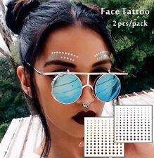 Gold Dots Head Temporary Face Tattoo Glitter Cheek Decor Festival Makeup Flash