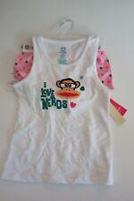 Paul Frank Girls 6/6X 2 Pc Underwear Set Julius Monkey Sleepwear Cami Boxer Pink