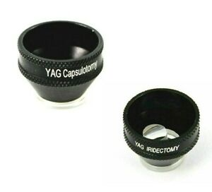 YAG Iridectomy And YAG Capsulotomy Lens Combo Set Of YAG Laser Procedure Lens