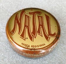 ULTRA RARE Vintage Antique Grease ✱ NATAL ✱ Shoe Polish Tin Can Portugal 60´s