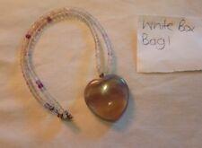 Stunning quartz heart shaped pendant necklace crystology healing nature boho