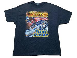 Vtg NASCAR Rusty Wallace #2 Harley Davidson Taking Flight Double Sided Tee 2XL