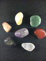 Chakras/Energy stones, 7 Cristaux différents pour Harmonie - Pocket Set 1