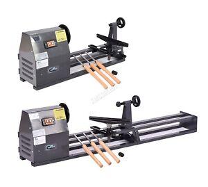 SwitZer Wood Turning Lathe Bench Top 350W 1M Woodworking Spin Machine Tool Set