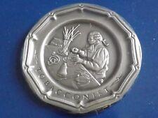 Vintage Franklin Mint Tobacconist Colonial Craftsman Pewter Plate Miniature