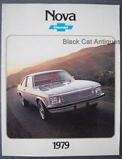 Original 1979 GM Chevy Nova Coupe/Sedan/Hatchback Coupe Car Dealer Brochure